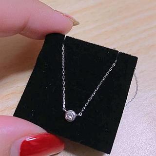 新品K18WGダイヤモンドネックレスSIクラス0.08