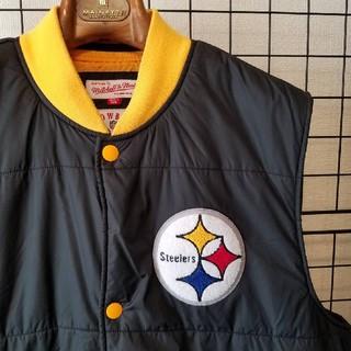 ミッチェルアンドネス(MITCHELL & NESS)のMitchell&Ness NFL Steelers ナイロンベスト vest(ダウンベスト)