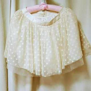 ハニーミーハニー(Honey mi Honey)の春服♪ ハニーミーハニー 水玉チュールスカート(ミニスカート)