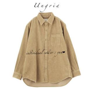 Ungrid - Ungrid コーデュロイビッグシャツ ルーズシャツ