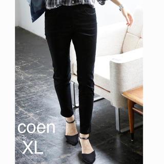 coen - coenイージースキニー パンツ コーエン/ジーンズ ブラック L
