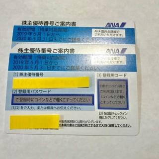 ANA(全日本空輸) - ANA株主優待券☆2枚☆航空運賃半額券☆全日空
