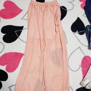 ピンクのキュロットロングスカート‼️(ロングスカート)