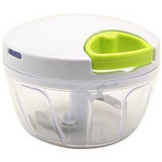 ホワイト小K&A みじん切り器 ふたも洗える ぶんぶんチョッパー BBC-01(調理道具/製菓道具)