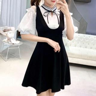 evelyn - 韓国 ワンピース ドレス 大きいサイズ