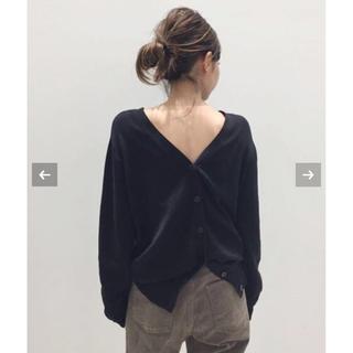L'Appartement DEUXIEME CLASSE - Silk * CTN 2Way カーディガン ブラック 未開封新品タグ付き