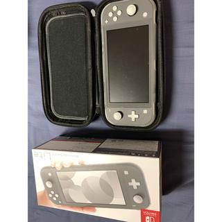 ニンテンドースイッチ(Nintendo Switch)のNintendo Switch Liteグレー 本体 保護フィルムハードケース付(家庭用ゲーム機本体)