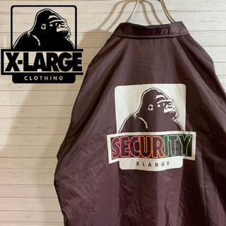 XLARGE - 【X-LARGE】エクストララージ  希少 SECURITY コーチジャケット