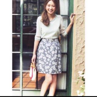 レッセパッセ(LAISSE PASSE)の新品タグ付き お花 ギンガム チェック スカート レッセパッセ Ray(ミニスカート)