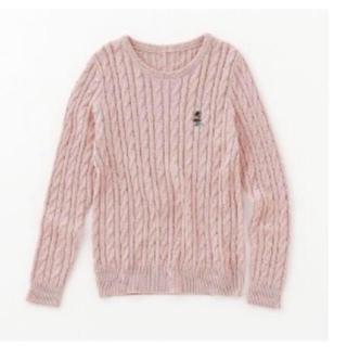 ディズニー(Disney)のミニー刺繍 ケーブルニット セーター(ニット/セーター)
