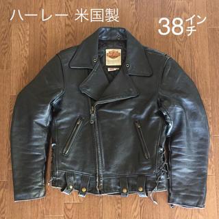 Harley Davidson - 【米国製】ハーレーダビッドソン ビンテージ ダブルライダース 革ジャン