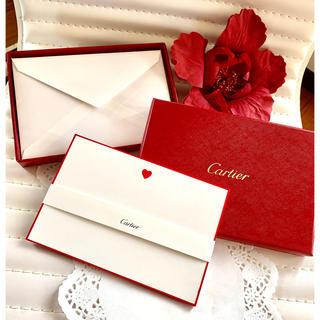 カルティエ(Cartier)の未使用❣️Cartierレターセット❣️ハート 非売品(カード/レター/ラッピング)