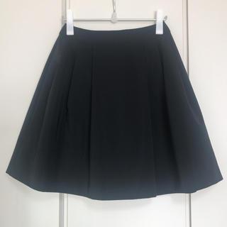M-premier - エムプルミエ ブラック フレア スカート 36 S ブラック