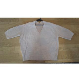 ユニクロ(UNIQLO)のユニクロ  Vネックニット  5分袖(ニット/セーター)