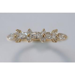 750 YG ダイヤモンド 0.50ct リング 12号 マーキース マーキス