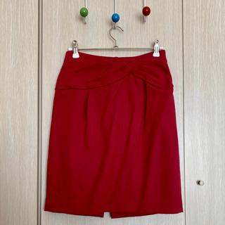 Rirandture - 美品◆リランドチュール ワインレッドリボンスカート