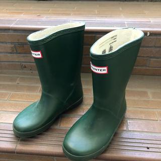 ハンター(HUNTER)のHUNTER ハンター 子供用 長靴 UK10 深緑(長靴/レインシューズ)