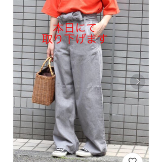 IENA SLOBE - JOURNAL STANDARD relume ベルト付きワイドパンツ