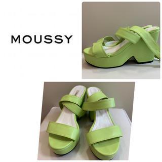 moussy - マウジー ライトグリーン  サンダル