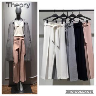 theory - ✤2017FW Theory セオリー ベルト付き セミワイドパンツ✤