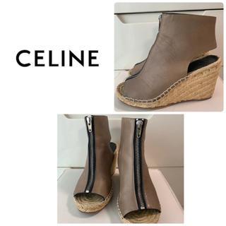 celine - セリーヌ  ブラウンレザー   サンダル