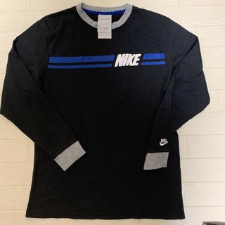 ナイキ(NIKE)の【NIKE】 良品 レトロデザイン ロンT 150cm  袖口刺繍ロゴ ブラック(Tシャツ/カットソー)