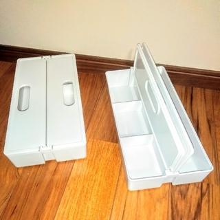 ヤマゼン(山善)のかるコンMサイズ 収納キャリーボックス 2個セット(ケース/ボックス)