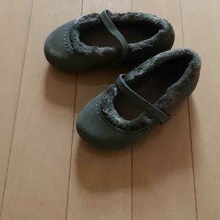 クロックス(crocs)のクロックスcrocsダークブラウンボアフラットシューズ 15.5~16.5センチ(ブーツ)