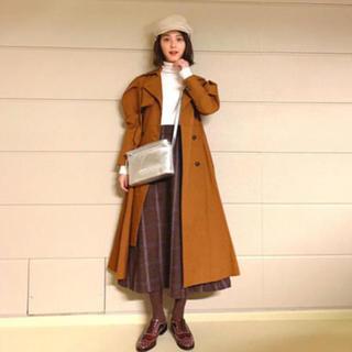 ENFOLD - [美品] 定価¥81,000 ENFOLD ライトギャバ フレアートレンチコート