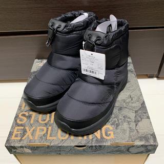 ザノースフェイス(THE NORTH FACE)の新品未使用 ノースフェイス ヌプシ ブーツ ブラック 5インチ 23cm(ブーティ)