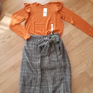 チャオパニック(Ciaopanic)の新品 チャオパニック スカート & GUフリルセーター 2点セット(セット/コーデ)