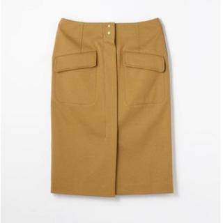 トゥモローランド(TOMORROWLAND)のTOMORROWLAND コットンジャージIラインスカート(ひざ丈スカート)