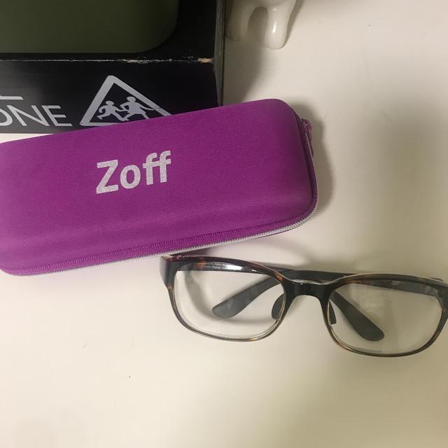 Zoff(ゾフ)のゾフ zoff 花粉メガネ 花粉対策メガネ 花粉症 美品 レディースのファッション小物(サングラス/メガネ)の商品写真