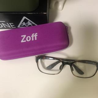 ゾフ(Zoff)のゾフ zoff 花粉メガネ 花粉対策メガネ 花粉症 美品(サングラス/メガネ)