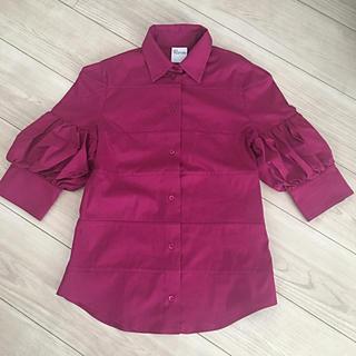 レッドヴァレンティノ(RED VALENTINO)のRED VALENTINO 5部丈ブラウス(シャツ/ブラウス(半袖/袖なし))
