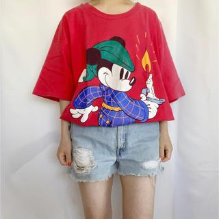 Disney - Vintage 90s ビッグミッキーTEE
