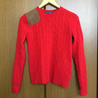 POLO RALPH LAUREN - ラルフローレン 革パッチ付き レディース ニット セーター