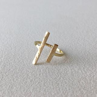 指輪 真鍮 リング ハンドメイド 3号 ピンキーリング(リング)