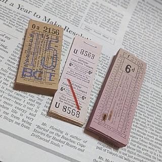 イギリス  ブロックチケット3束(印刷物)