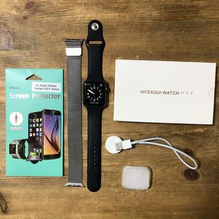 アップルウォッチ(Apple Watch)の【美品・使用1ヶ月のみ】Apple Watch Series 2 42mm (腕時計(デジタル))