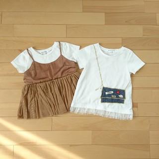 GLOBAL WORK - 女の子Tシャツ 2枚セット