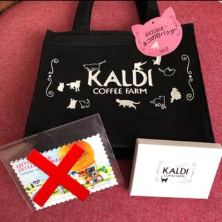 カルディ(KALDI)のKALDI ネコの日バッグ ティートレイ 2020 猫(トートバッグ)