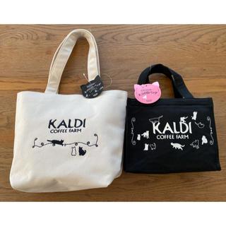 カルディ(KALDI)の値下げ《白・黒》《バッグのみ》カルディ ネコの日バッグ プレミアム おまけ付(トートバッグ)