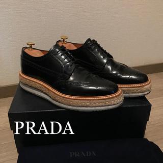 PRADA - prada エスパドリーユ 黒 サイズ6.5