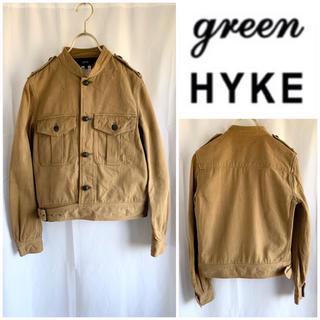 ハイク(HYKE)の希少 green (現HYKE) モーターサイクル型 コットンブルゾン サイズ2(ミリタリージャケット)