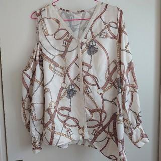 eimy istoire - エイミーイストワール chain pattern アシンメトリーシャツ