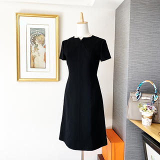 FOXEY - 美品 フォクシー 上質なウール ワンピース ドレス ブラック