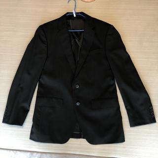 アオヤマ(青山)のJOHN PEARSE メンズ スーツ ジャケット 黒ストライプ (スーツジャケット)