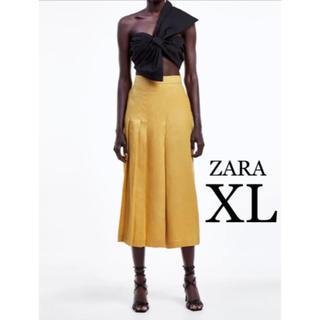 ZARA - 【新品・未使用】ZARA プリーツ リネン ワイドパンツ XL
