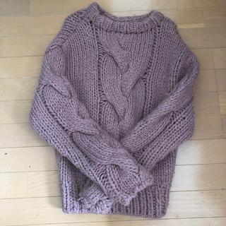 moussy - ピンク厚手セーター